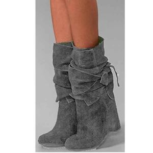 STUNNING Jeffrey Campbell Libby Wrap Boots